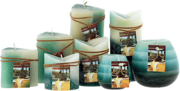 Scented candle spa candles scandinavia for Spa smelling candles